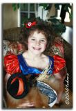 Sarah with pet dog Cocoa