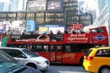 Sightseeing bus in Times Square