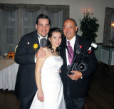 The photographer with the bride & groom