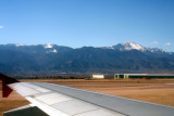 Pikes Peak as seen from seat 16A