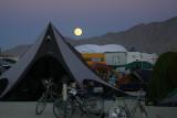 Moonrise over Black Rock City