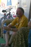 John Relaxing in the Shade at Burnstream Court