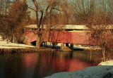 Winter stillness, covered bridge, Pennsylvania