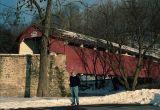 Snow and covered bridge, Pennsylvania,
