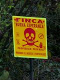 Private Property sign- they really didn't want visitors