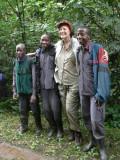 Priscilla with porters