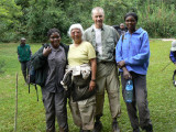 Marsha and Dave with porters