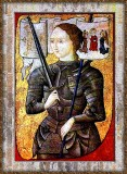 XV Century Portrait of Jeanne D'Arc,-Infamous French Heroine