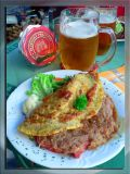 Czech Quesadilla With Plzen Beer, Plzen, Czechia
