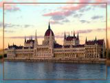 Parliament In Budapest At Dusk, Hungary
