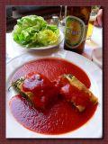 Spinach Quiche With Paprika Sause, Vienna, Austria