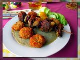 Chachlyk Of Wild Deer & Boar W/Fried Portobellos On Potato Crepes,-Holy Shit ! Eger , Hungary