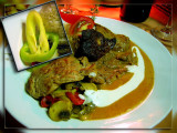 Ostrich Steak with Mushroom Sause... And Lovery Garnish ! Budapest