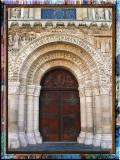 Ancient Door Of Poitiers Cathedral