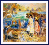 Impressionism by Renoir, On The Beach