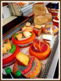 Cheeses on Salzburg Market, Austria