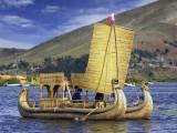 Heading To Robb The Bank On Totora Cruiser, Titicaca Lake