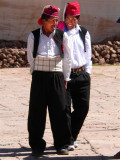 Two Available Bachelors, Taquile Island, Lake Titicaca