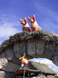 Bulls For Luck, Aymara House , Sillustani