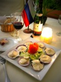Oysters With Seaweeds In Hollandese Sause ! Lima