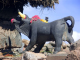 Bull Figure In Aymara House, Sillustani