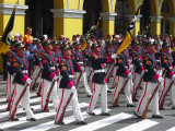 Parade Of Presidential Guards On Gringo's Background, Lima