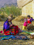 On Floating Uros Islands, Lake Titicaca