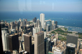 Another view of the Chicago skyline and of Lake Michigan from the top of the Sears Tower.