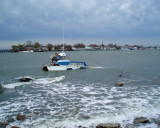 Rough surf on City Island