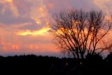 A late winter sunset