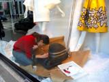 A window designer at Bergdorf Goodman