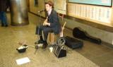 Blues singer at Penn Station