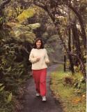 Jogging at the volcano