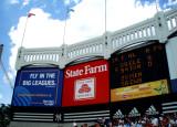 Looking up at Yankee Stadium