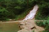Waterfall near the tower
