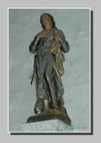 Polychrome statue