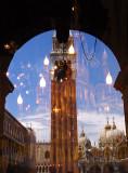campanile reflection