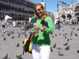 feeding pigeons is fun !