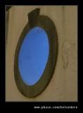 Glowing Blue Port Hole, Gothic Pavillion, Portmeirion 2007