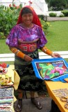 Selling Molas in the Old Town