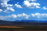 More Valley Floor Colors and Cotton Puff Clouds