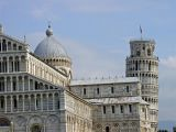 Cathedral at Pisa and its famed leaning tower