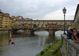 Unique Ponte Vecchio bridge in Florence, Italy