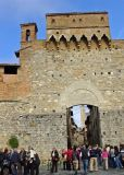 The medieval hilltop town of San Gimignano