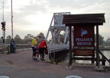 Modern replacement for the historic Pegasus bridge seized by GIs