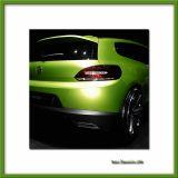 Green concept car, Paris