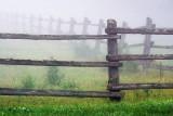 Fence In Fog 62368