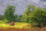 Mowing A Field 63165 Art