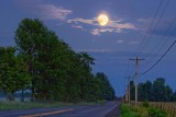Full Moon Over A Country Road 63978