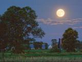 Full Moon Over A Farm 64067